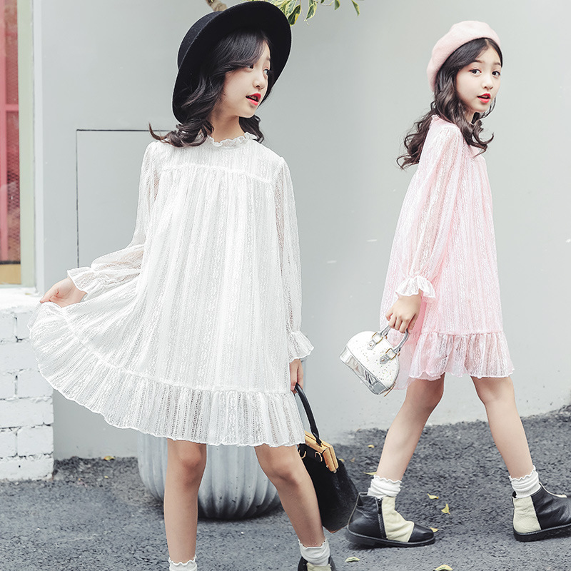 d90e6903639a2 4-14 yrs teenage girls spring china style simple loose white dress elegant  princess costume party frocks big girl summer clothes