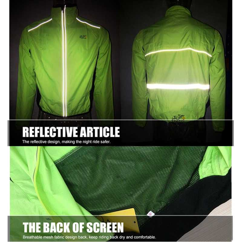 Ultra Licht Winddicht Fietsen Jassen Mannen Vrouwen Waterdichte Wind Jas Reflecterende Fiets Kleding Regenjas Mtb Road Bike Jacket