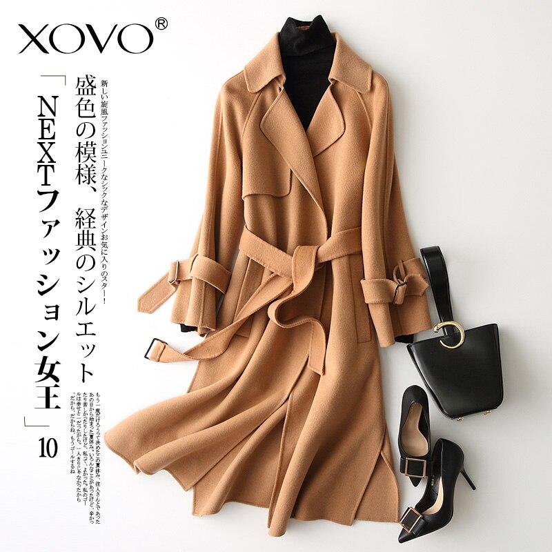 Woolen coat zero cashmere coat jacket female long section Korean version of double-sided woolen cloth 2018 autumn new