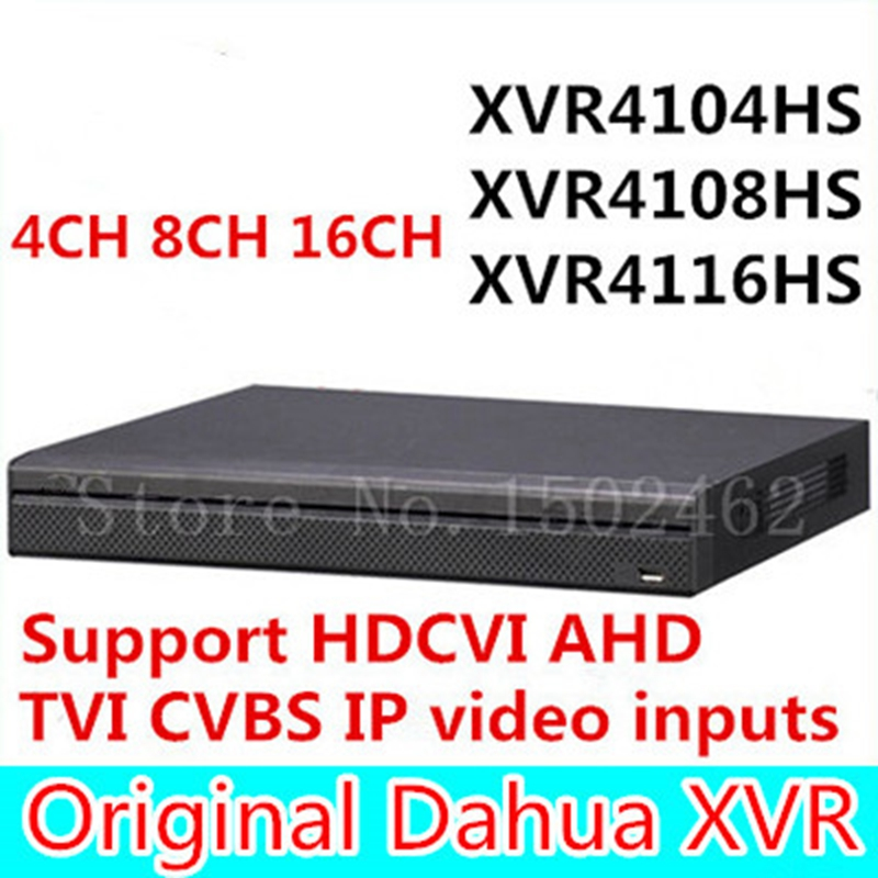 ahua Original English XVR video recorder XVR4104HS XVR4108HS XVR4116HS 4ch 8ch 16ch 1080P Support HDCVI/ AHD/TVI/CVBS/IP Camera dahua xvr video recorder xvr5408l xvr5416l xvr5432l 8ch 16ch 32ch 1080p support hdcvi ahd tvi cvbs ip video inputs