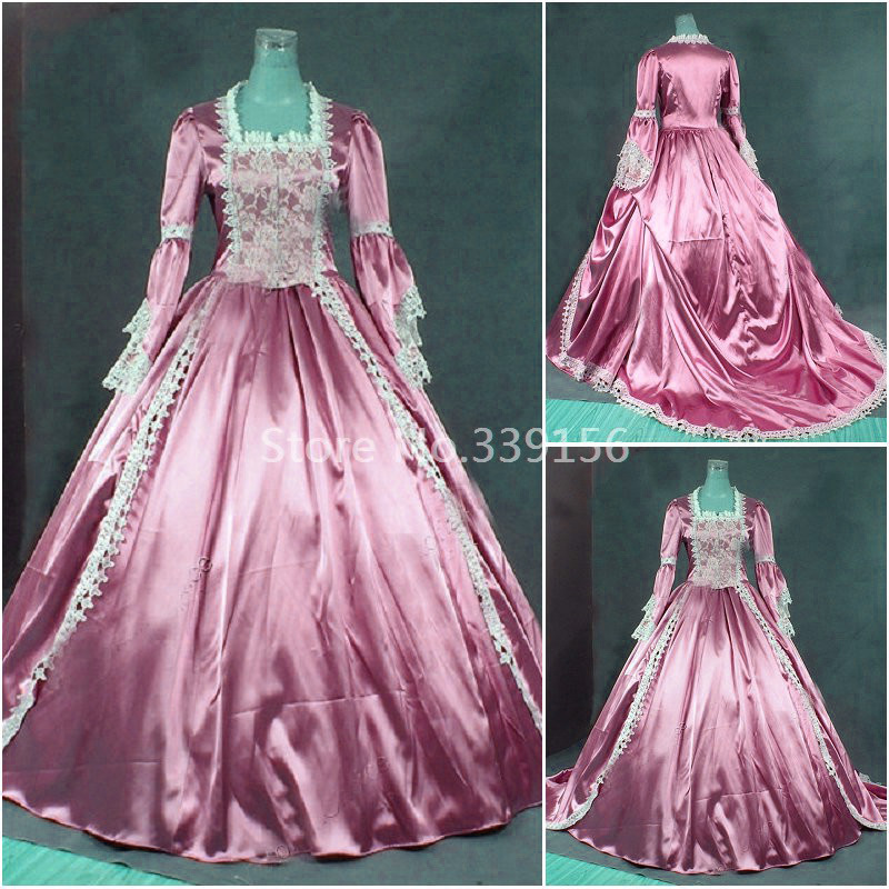 Hot Sale Pink Renaissance Princess Victorian Cinderella Prom Gown Dress Theater Women Costumes