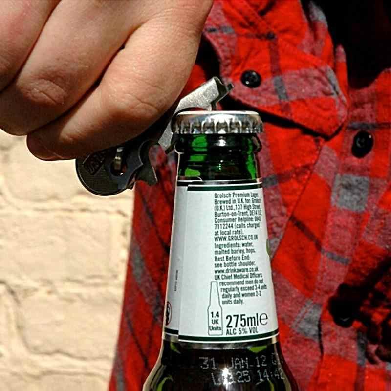 8 в 1 открывалка для бутылок безделушка для ключей многофункциональный открытый подвесной зажим из нержавеющей стали