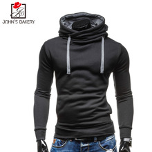 017 New Spring Autumn Hoodies Men Fashion Brand Pullover Solid Color Turtleneck Sportswear Sweatshirt Men'S Tracksuits Moleton 1