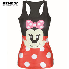 New-Fashion-Women-Minnie-Mouse-Cartoon-Printed-Sleeveless-T-Shirt-Vest-Tank-Tops-Woman-Skull-Print