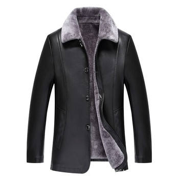 Men New Sheepskin Coat Winter Leather Jacket Mens Genuine Leather Pilot Jacket Plus Velvet Thick Jackets Men's Fur Coat M-3xl