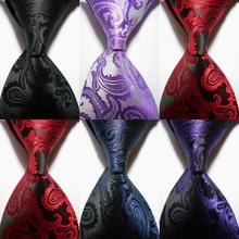 New Silk Classic Paisley Mix Color JACQUARD WOVEN Silk Men's Tie Necktie