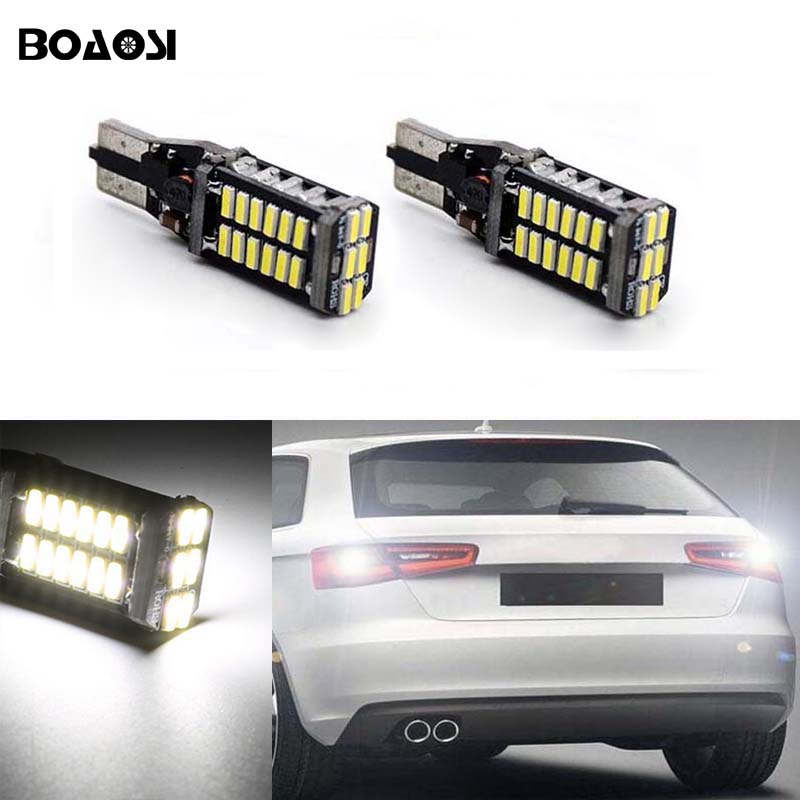 BOAOSI 2x Canbus T15 W16W LED Reverse Lights