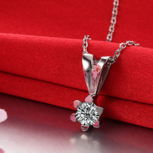 0.27CT Handmade 18K Gold Natural Diamond Pendant Necklace for Women Wedding Engagement Party – Free DHL Shipping