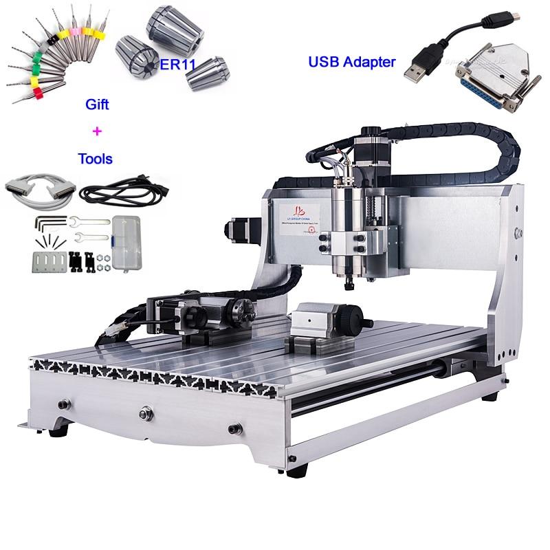 USB interface 4 Axis CNC 6040Z 800W wood metal cutting machine
