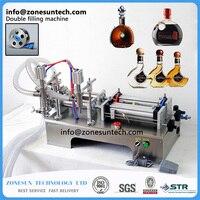 50-500 ml Poziome Pneumatyczne PODWÓJNA GŁOWICA Maszyny Do Napełniania szampon, olejek CIĄGŁE maszyny do napełniania CIECZY