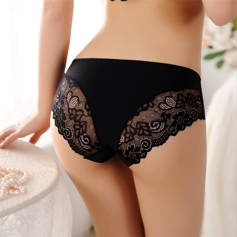one size briefs women lace fashion ultra-thin comfort sexy   panties   for ladies and women's sexy lace underwear