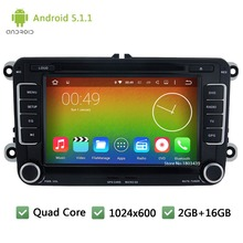 Android 5.1.1 Quad Core Car Multimedia DVD Player GPS Radio For Volkswagen Golf 5 6 Scirocco Polo Jetta Sedan Tiguan Passat B6