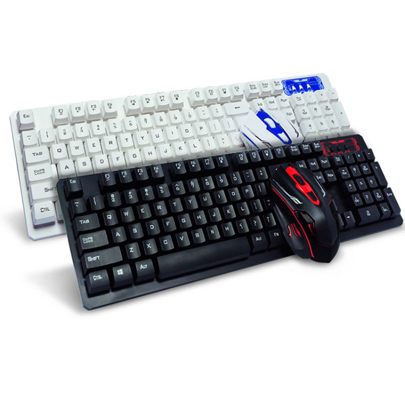 fashion 2 4g 10m wireless keyboard and mouse combo new computer accessories for laptop pc. Black Bedroom Furniture Sets. Home Design Ideas