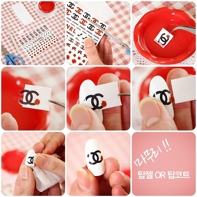 120 Pcs Lot 12 Designs New Arrival Brand Name Logo Water Transfers Nail Stickers Decals Foil Decorations Tools Jh001 In From Beauty