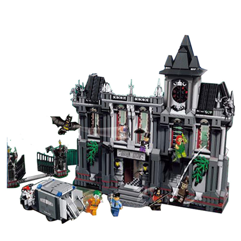 LEPIN 07044 1685Pcs The Batman Asylums Set Children Educational Super Hero Series Building Blocks Bricks Toys Model Gift 10937 new 1685pcs lepin 05036 1685pcs star series tie building fighter educational blocks bricks toys compatible with 75095 wars