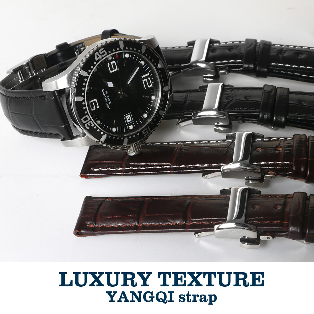 Calf Leather Watchband 18mm/19mm/20mm/22mm Watch Strap Band for Longines L2 Master Collection Man Watch EVIDENZA L4 +Tools недорго, оригинальная цена
