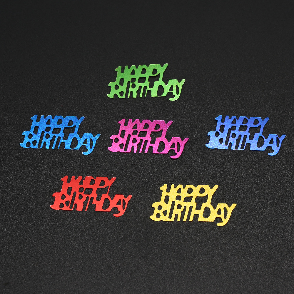 Big happy birthday badges party products party delights - 90g Sparkle Confetti Kids Birthday Party Supplies Decoracion Rainbow Colour 16th 18th 21th Digitals China