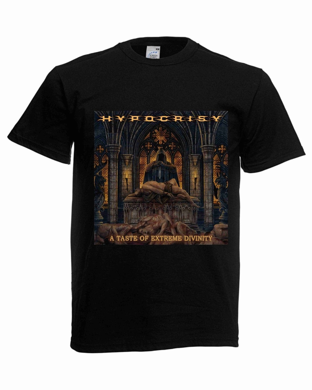 Hypocrisy T-shirt,Metal Men  t shirt different sizes,Metal Fan Shirt 1 New Fashion Casual Cotton Short-Sleeve