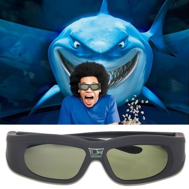 Active Shutter 3D Glasses Universal 120HZ Two-Way Communication Rechargeable IR DLP 3D Glasses Projector TV