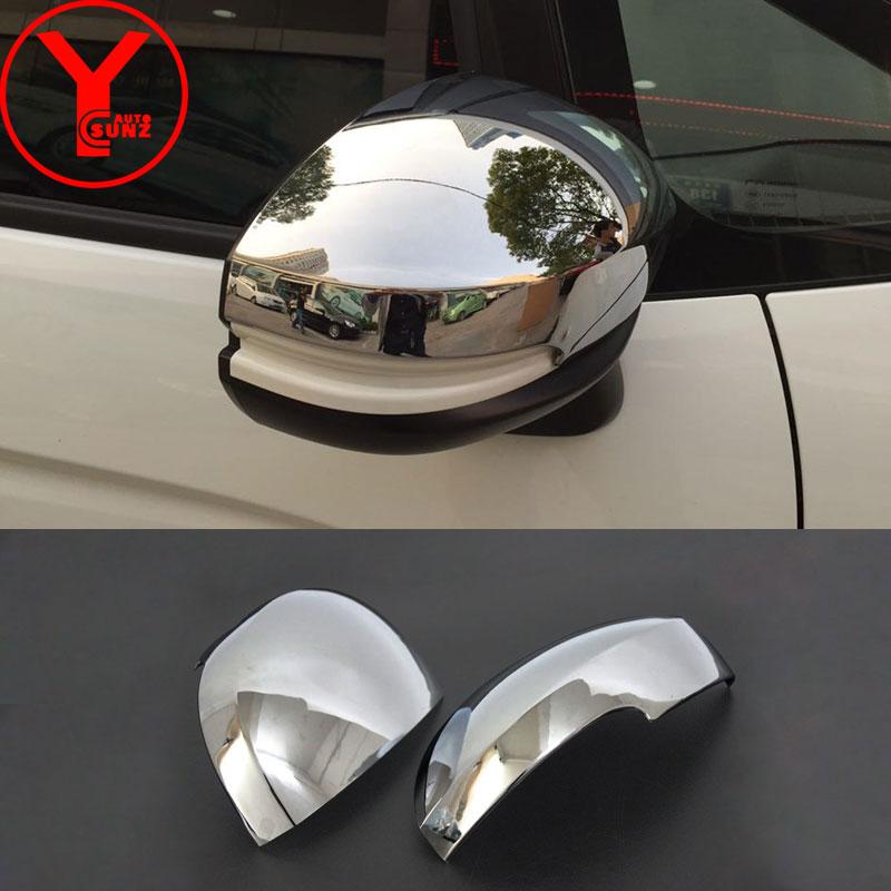 For Transporter T6 2017-2019 ABS Chrome Rearview Side Door Mirror Cover Trim 2pcs Car Stytle Accessoies