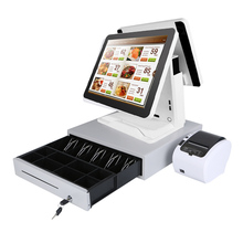ComPOSxb 15 inch dual screen touch all in one /thermal printer/cash drawer/ whole set restaurant pos system