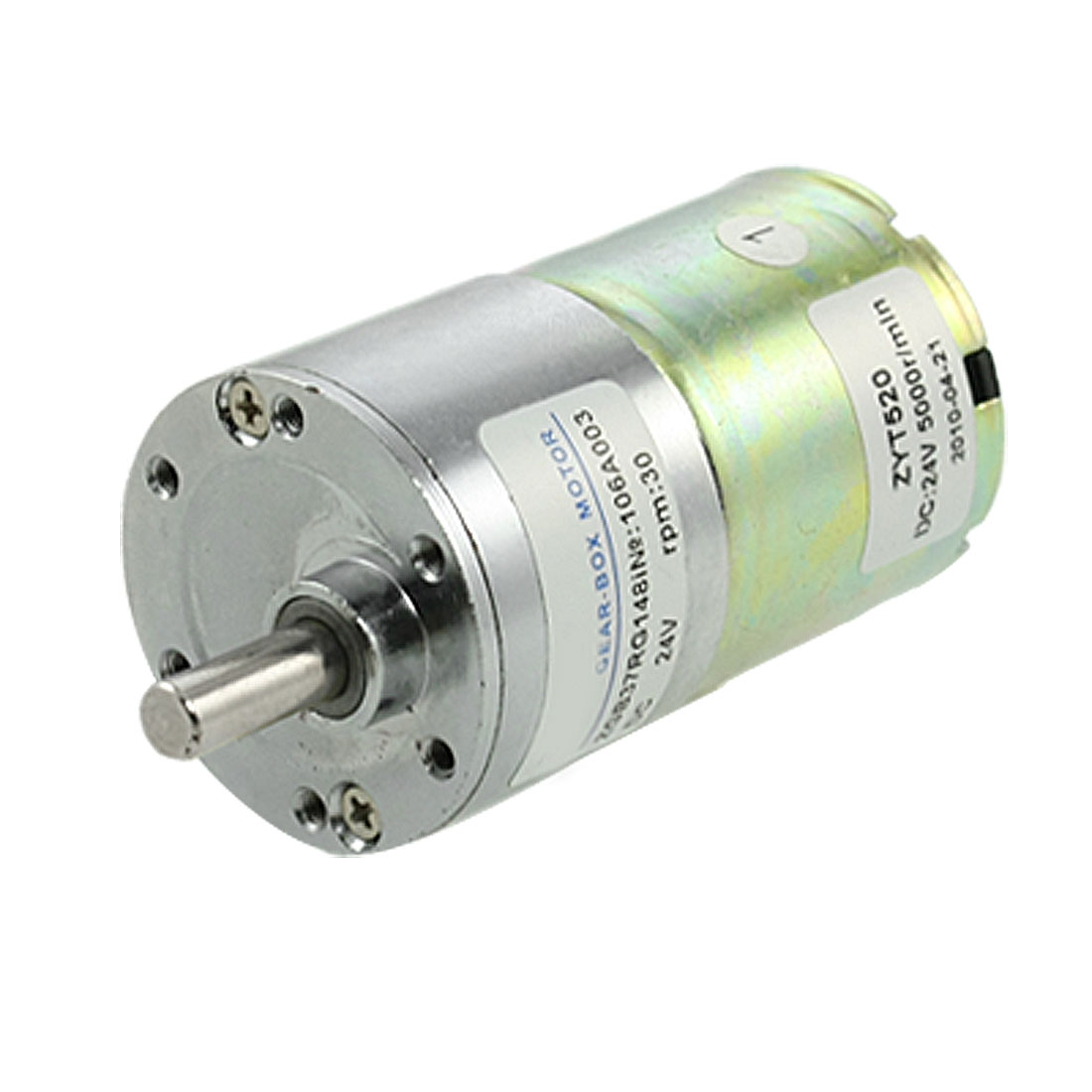 6mm Dia Shaft DC 24V 30RPM Speed Reducing Gearbox Motor 35.5mm x 85mm