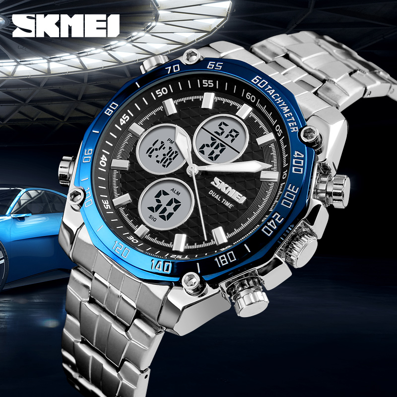 <font><b>SKMEI</b></font> Top Brand Luxury Watches Men Military Mens Watches Sport LED Analog Digital Watch Male Quartz Clock Men Relogio Masculino image