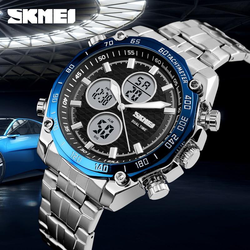 SKMEI Top Marke Luxus Uhren Männer Military Herren Uhren Sport LED Analog Digital Uhr Männlichen Quarz Uhr Männer Relogio Masculino-in Quarz-Uhren aus Uhren bei  Gruppe 1