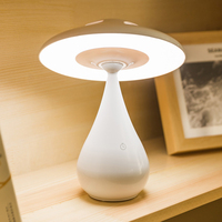 Creative LED Mushroom Child Desk Lamp Dimming Touch 360 Lighting Reading Table Lamp with Air Purification Stepless Dimming