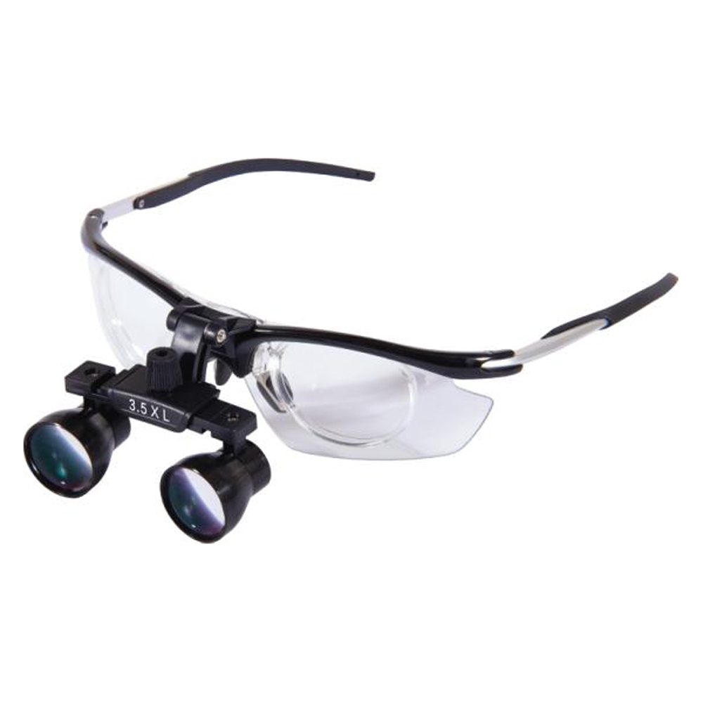 LyncMed 3.5X 	surgical dental loupes dentist dental medical binocular magnification loupes 340-550 mm Working distance 3 5x magnification 420mm working distance white loupes amplification dental cure loupe medical surgical therapy magnifier