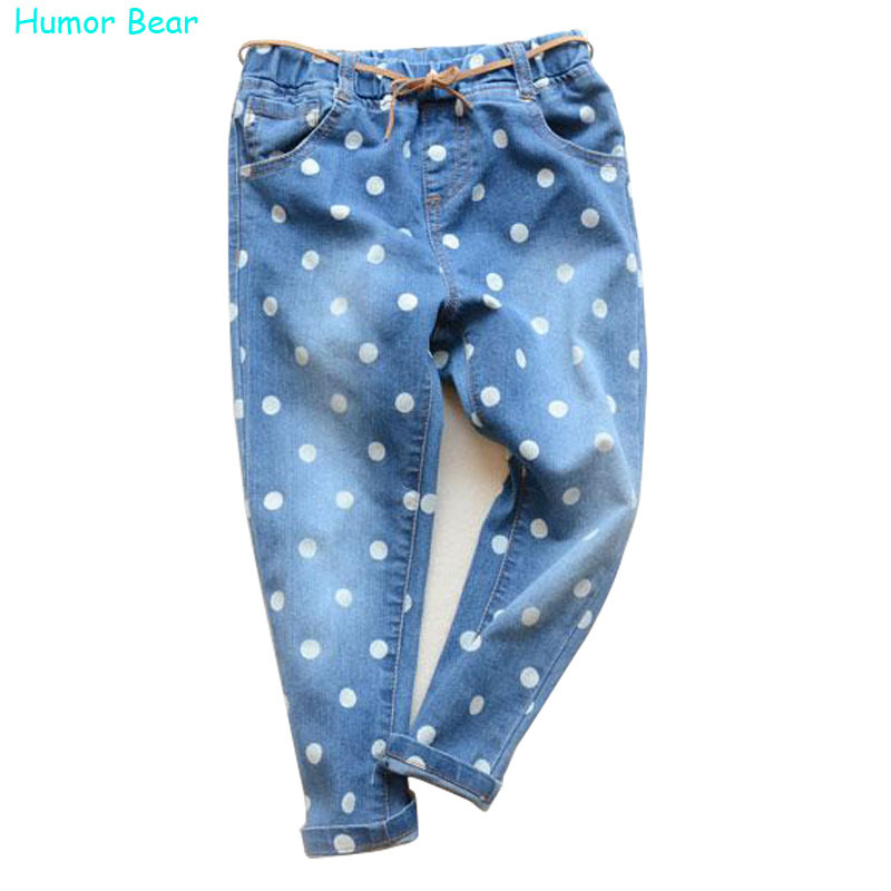 Humor Bear Hot Sale cartoon girls children jeans pants for boys fit 3-6 years new kids jeans Free shipping