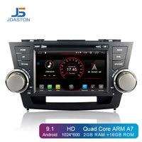 JDASTON Android 9.1 Car DVD Player For Toyota Highlander 2009 2013 2 Din Car Radio GPS Navigation Multimedia IPS Stereo WIFI