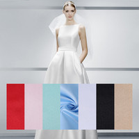 PanlongHome High Grade 395 Satin Cloth Wedding Dress Fabric Solid Color Satin Background Fabric Handmade DIY