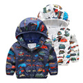 baby boy jacket car printed children's coat spring