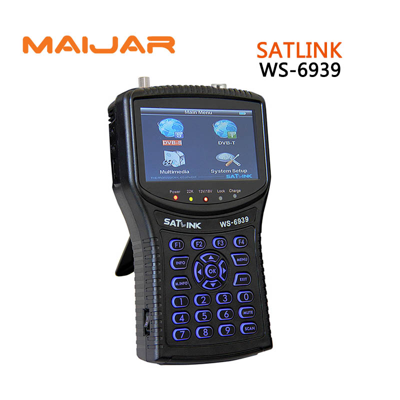 [GENUINE] Digital satellite finder meter WS6939 Digital terrestrial signal satlink  ws-6939 4.3 Inch LCD Screen finder meter sf 9505a 2 3 digital satellite signal finder meter w compass black