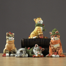 American Creative Resin 1pcs Cute cat decoration tabletop fairy garden miniature figurines birthday gifts home accessories