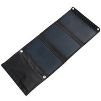 HOT-Alta Efficienza 21 W Pieghevole Caricatore Solare Pannello Solare Caricabatteria Per iphone Dual USB Uscita Caricabatterie Sunpower