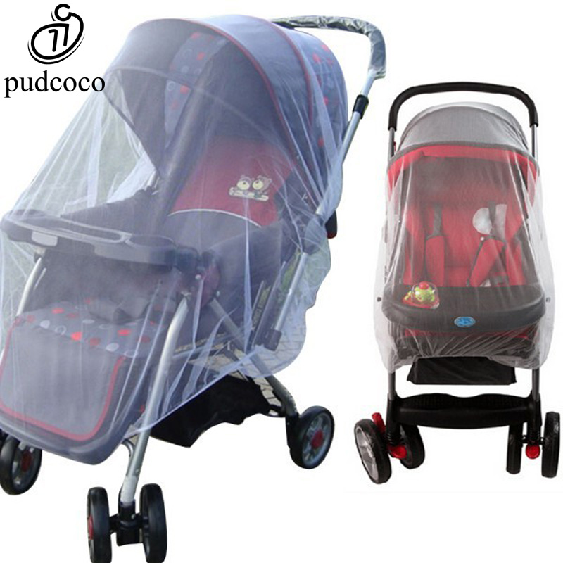 Pudcoco Infants Baby Stroller Pushchair Mosquito Insect Net Mesh Buggy Cover For Baby Infant Outdoor Protect