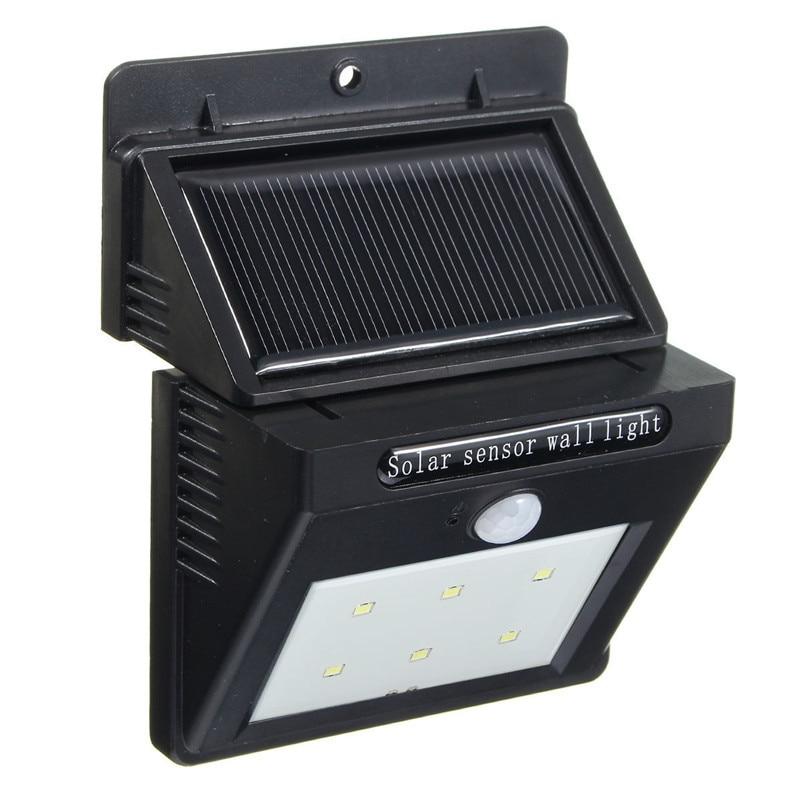 Mising Integrated 6 LED Solar PIR Powered Motion Sensor Garden Lamp Security Outdoor Lawn Wall Light