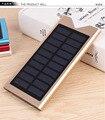 Новый 20000 мАч Солнечных Банк силы ультра тонкий Внешний солнечное зарядное устройство powerbank для iphone7 samsung s6 s7 edge