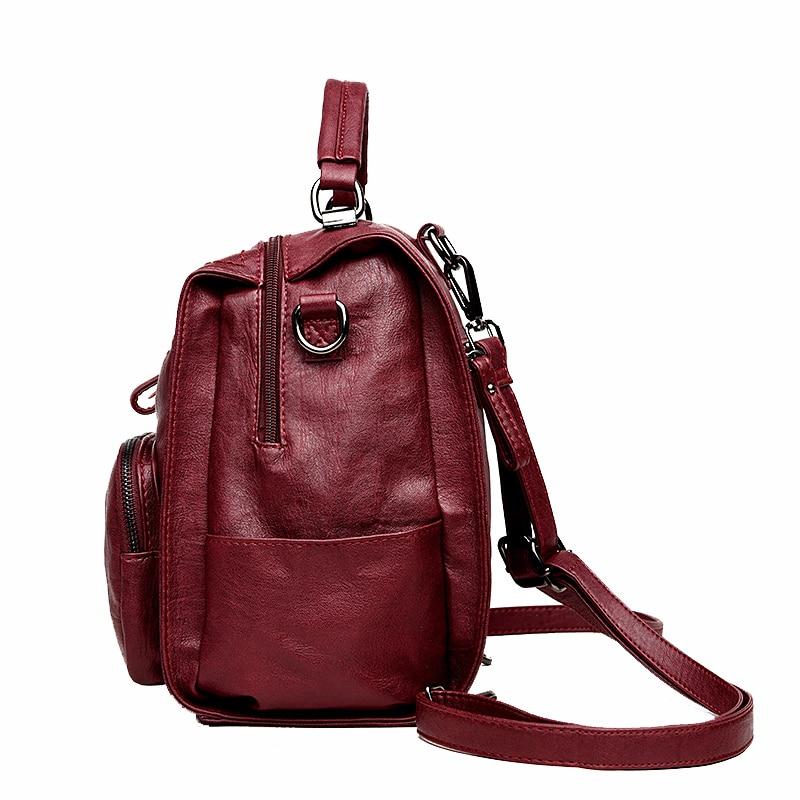 0f0ec373b5ed6 2018 Kobiet Wielofunkcyjny plecak z prawdziwej skóry kobiet torby na ...