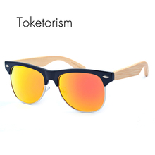 Toketorism fashion sun eye glasses 2017 bamboo sunglasses for women polarized mens sunglasses brand designer 1021