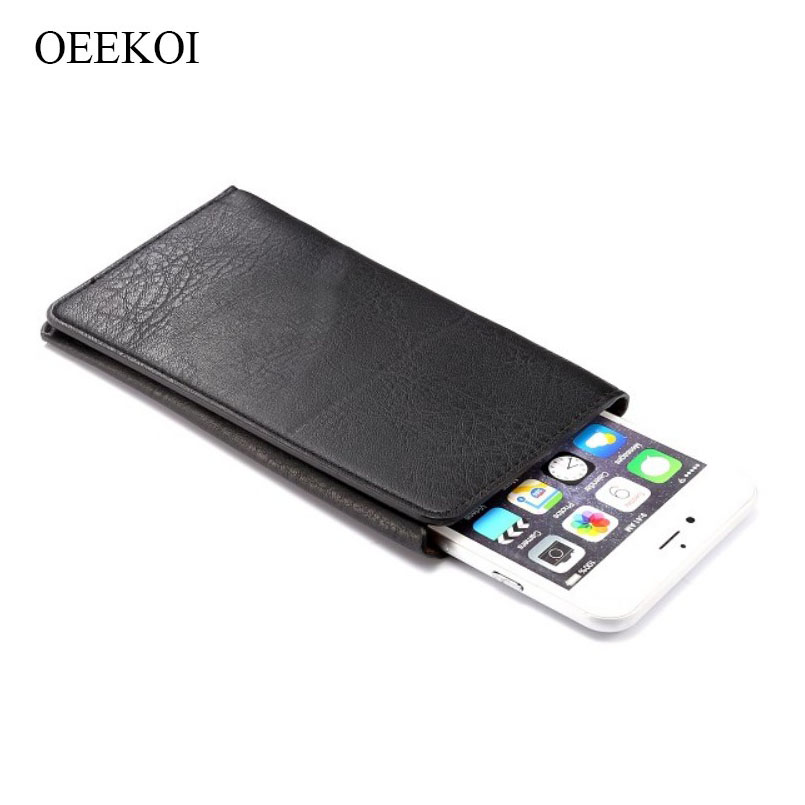 OEEKOI Universal Elephant Pattern Leather Wallet Sleeve Pouch Case for LG X venture/U/V34 isai Beat/X cam 5.2 Inch