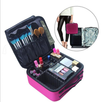 POESECHR New Arrival Large Multi Storey Professional Make Up Package Bag Nail Pattern Tool Cosmetic Box