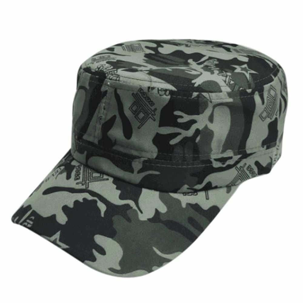 KANCOOLD 2019 แบรนด์แฟชั่นผู้ชายยุทธวิธีกองทัพ Camouflage หมวกแบนหมวกสำหรับหมวกผู้หญิงผู้ชายฤดูร้อน Camo เบสบอลหมวกปรับ