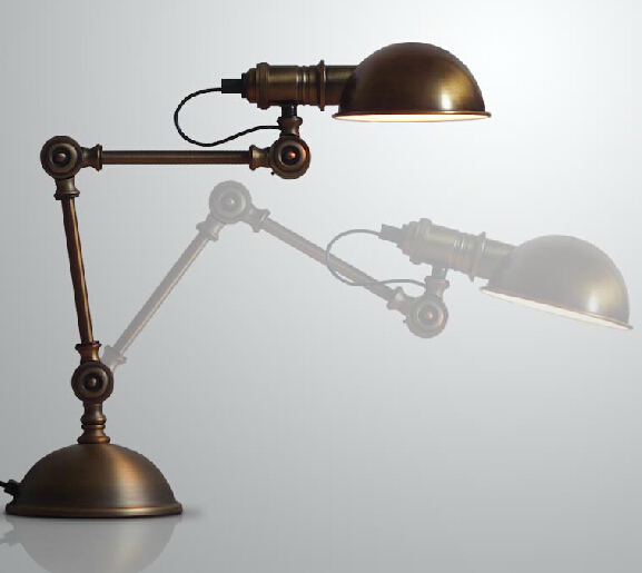 Modern Home Romantic Vintage Study Light Retro Living Room Table Lamp Coffee Shop Decoration Free
