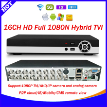 HD 16CH 1080N CCTV TVI recorder p2p cloud 16 Channel 1080P Hybrid TVI/AHD/HVR/DVR/NVR 5 in 1 Security DVR with 3G+WIFI+xmeye app