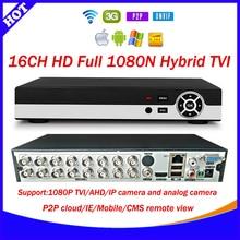 HD 16CH 1080N CCTV TVI recorder p2p cloud 16 Channel 1080P Hybrid TVI AHD HVR DVR