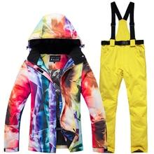 18new ski jacket + pants womens outdoor windproof waterproof warm suit winter sports thickening shirt