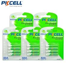 20 pçs/lote PKCELL NIMH AAA Bateria Recarregável 1.2V aaa Ni MH 850mAh Baterias Recarregáveis Para Brinquedos de RC MP3 3A/MP4